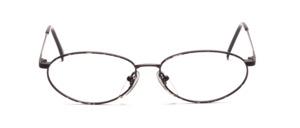 Ovale Brillenfassung mit oben angesetzten Bügeln