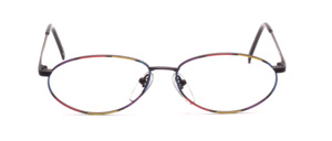 Oval spectacle frame with temples on top