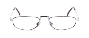 Metal reading glasses in silver with black for men