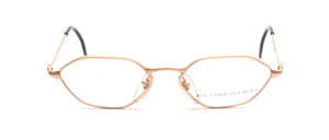 6-edged metal frame in matt gold for ladies