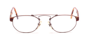 Rose-colored double bridge frame with matching colorful acetate parts and temples