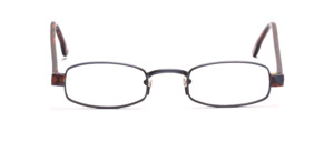 Blue Metal Mount with Brown-Blue Patterned Acetate Baking and Temples