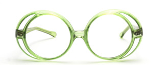 Große, tolle 1970er Jahre Sonnenbrille in rund mit seitlichem Doppelrahmen