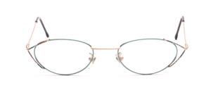 Feine Damenbrille in matt Gold und Grün gemustert