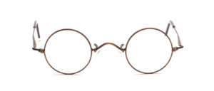 High-quality round metal frame in a nostalgic style with a slightly smaller disc