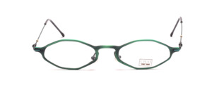 Super light green aluminum frame on Chai in flat octagonal shape metal straps