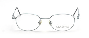 Feather light stainless steel frame in silver blue with flexible straps from Carisma