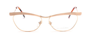 High-quality eyeglass frame in gold with matt gold combined in the butterfly style of T-Look