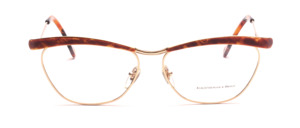 High-quality frame in gold with brown combined in the butterfly style of T-Look