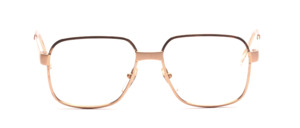 Strong metal eyeglasses frame for men from Desil in gold with matt gold details