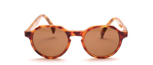 Eine klassische, oben abgeeckte handgefertigte Azetat Panto Sonnenbrille   Made in Italy by ROBE DI KAPPA<br /> Das goldene KAPPA Logo ist außen am Bügel angebracht
