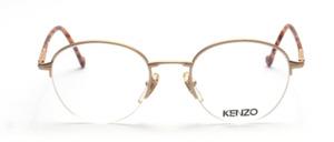 Hochwertige Halbrand Pantobrille in matt Gold mit Flexscharnier