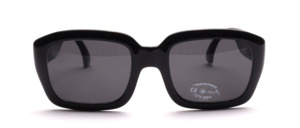 High quality black gloss sunglasses with wide arms