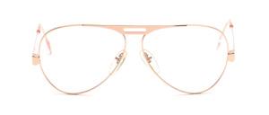 Pilotbrille aus Metall in Gold mit mittig angesetzten Bügeln