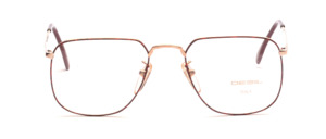 Classic unisex glasses by Desil with a brown patterned coating on the front of the midsection