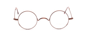 Brown metal frame by Braun Classics in brown with W-bridge and locking blocks on the side of the glass