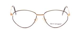 Butterfly Damenbrille aus Metall in Gold mit schwarzem Glasrand
