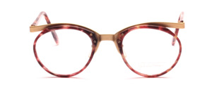 Men's combination frame with a dark red patterned midsection and straps by Valentino Toscani