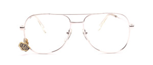 Pilot Frame for men with double bridge by Desil in silver