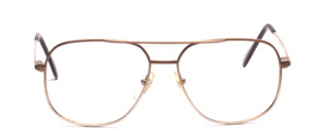 Pilot Frame for men with double bridge by Desil in brown gradient