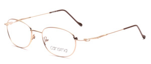 Feather-light stainless steel frame in matt gold with flexible arms by Carisma
