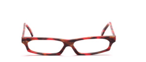 Very flat ladies frame in red, mottled brown
