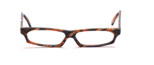 Very flat ladies frame in brown, black, mottled blue