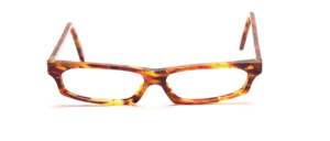 Very flat ladies frame in golden brown, brown and pink mottled