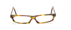 Very flat ladies frame in green, yellow, mottled purple
