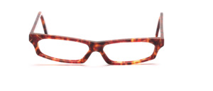 Very flat ladies frame in brown, pink mottled with gold threads