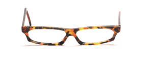 Very flat ladies frame in brown, green mottled with gold threads