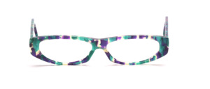 Flat ladies acetate frame in colorful patterned