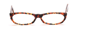 Flat ladies frame made of high quality acetate in brown and black patterned