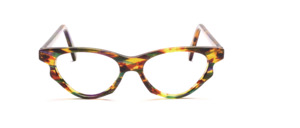 Cateye acetate frame, mottled