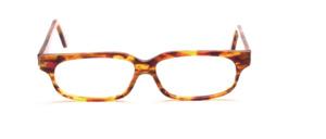 Exklusiv handgefertigte Brillenfassung in Honigbraun Transparent und Braun, Pink gemustert