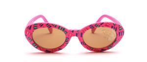 Weiche, biegsame Baby Sonnenbrille in Pink mit Schmetterlingsmotiv