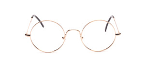 The absolute classic, our glasses round with nosepieces in shiny gold