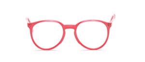 Zeitlose Panto Fassung mit Schlüssellochsteg und oben angesetzten Bügeln in glänzendem Hellrosa mit Pastell rosa Innenteil