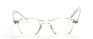 Transparente Acetat Brillenfassung in Karréform mit Schlüssellochsteg aus den 1920er Jahren