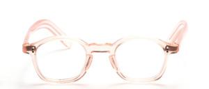 Acetat Brillenfassung in Karréform mit Schlüssellochsteg in Transparent Haute färben aus den 1920er Jahren
