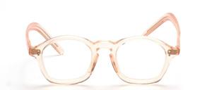 40er Jahre Brillenfassung aus Celluloseacetat in Hautfarben mit Schlüssellochsteg