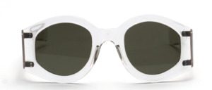 Solid 1930s / 40s sunglasses with wide temples and 4 temple studs