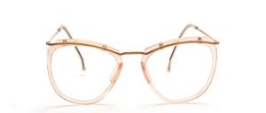 Eine antike Oberbalkenbrille aus Acetat und Metall