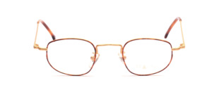 Metal frame in matt gold with dark brown decor by Braun Classics