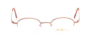 Half rimless metal frame in red gold for ladies