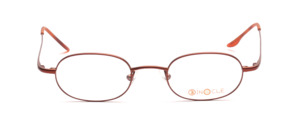 Aparte metal frame in dark copper red from Binocle
