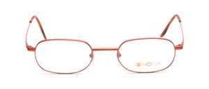 High quality stainless steel frame in metallic orange by Binocle