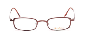 Square metal frame in a good wearable size of Binocle in chocolate brown