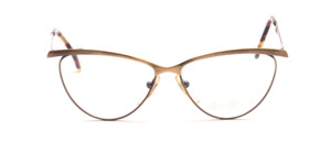 Cat Eye frame in antique gold metal