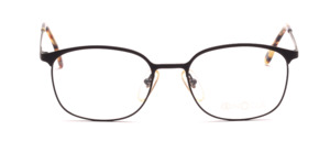 Men eyeglasses frame made of metal in jet black